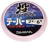 ダイワ(DAIWA) 投釣り力糸 サーフセンサーテーパー力糸α 2-6号 13m オレンジ