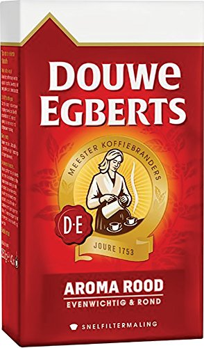 Douwe Egberts Aroma Rood Ground Coffee, 250g (Pack of 1)