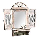 Espejo para Colgar en la Pared Espejo de Maquillaje Moderno Ventana Decorativa Creativa Espejo Montado En La Pared Retro Industrial Viento Espejos De Afeitar para Tocador, BarberíA O