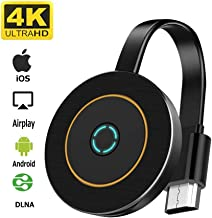 Wireless Display Adapter, YIKESHU 4K@30Hz WiFi Display Dongle Wireless HDMI Adapter Compatible iOS Android Windows - Support Miracast Airplay DLNA TV Stick for Laptop Phone to TV Monitor Projector