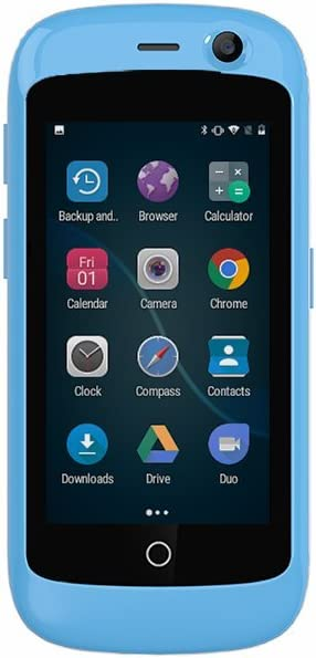 Unihertz Jelly Pro, The Smallest 4G Smartphone in The World, Android 8.1 Oreo Unlocked Smart Phone with 2GB RAM and 16GB ROM, Sky Blue