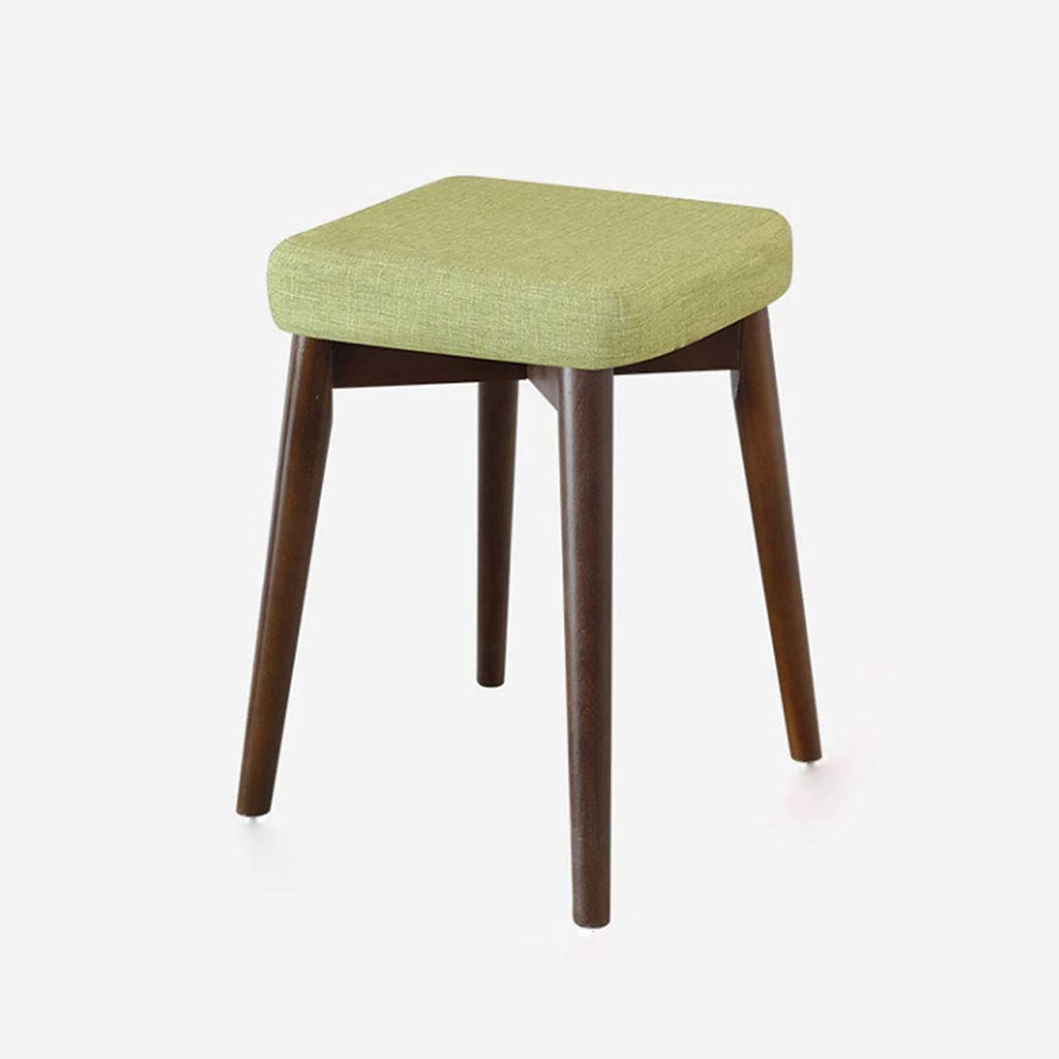 NJ STOOLS- Dining Stool Fabric Dressing Stool Creative Stool Simple Home High Bench (color   Green, Size   32.5x32.5x44cm)