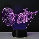 Nachtlicht Stereo 3D Trompete Schreibtischlampe Led Leuchtlampe Haushaltsbeleuchtung Energiesparende Usb Kreative Gadget Handwerk
