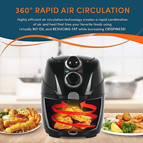 GOBBLER Air Fryer 2L Healthy Fryer with Adjustable Temperature Control, Timer Function & Non-stick Fry Basket - Black (GB-AF20A)