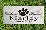 Broad Bay Dog Memorial Gift Stone Personalized Pet Sign Garden Marker Outdoor Grave Headstone Plaque