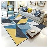 YAOTT Alfombra De Salón Moderna Patrón De Diseño De Velour para salón Dormitorio baño sofá Silla cojín geométrico 10 140 * 200cm