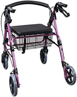 Mobility Aids & Supplies Walker Aluminum Alloy Folding Four-wheel Shopping Cart Can Sit Can Store Scooter Rehabilitation T...