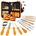 Halloween Pumpkin Carving Tools, 13 Pieces Professional pumpkin cutting supplies tools Kit stainless steel lengthening and thickening with Carrying Case, Easily Sculpting Halloween Jack-O-Lanterns