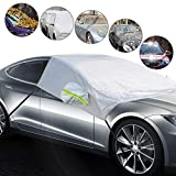 Windshield Snow Cover for Car, Car Shade Windshield Cover for Winter Ice and Snow with Mirror Cover Waterproof Protector All Weather Winter Summer Sun Shade for Trucks Vans and SUV with Mirror Covers