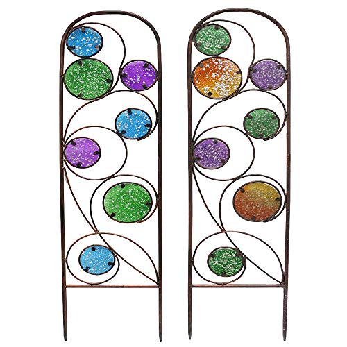 Every Growing Metal Trellis Garden Stake with Ombre Glass Circles Assorted (Metal)