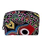 TIZORAX - Neceser de maquillaje tribal con diseño floral para mujer