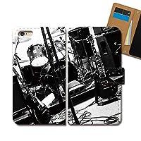 Galaxy A21 SC-42A ケース 手帳型 MUSIC 手帳ケース スマホケース カバー 音楽 楽器 音符 バンド ギター ドラム E0304010114903