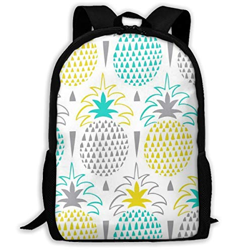 Oswz Pretty Pineapple Travel Backpack Insulated Soft Lunch Cooler for Men Women, Best for Picnic, Hiking, Travel, Beach, Sports, Work