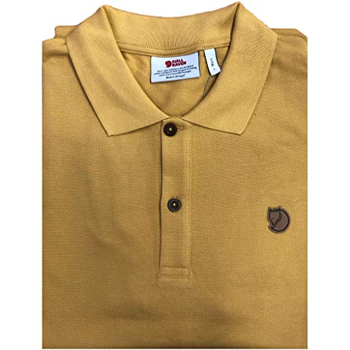 FJÄLLRÄVEN Herren Övik Polo Shirt M Poloshirt mit 2 Knöpfen, braun (Ochre), XL