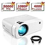 Elephas Mini Proiettore Portatile 4000 Lumen, Videoproiettore Full HD 1080P,...