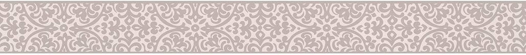 Gris Ideal Pour Une Cuisine Ou Une Salle De Bains Cueyu Bordure De Mur Autocollante 3d Autocollante Bordure De Papier Peint Amovible Frise Murale A Motif Floral Pour Decorer La Maison