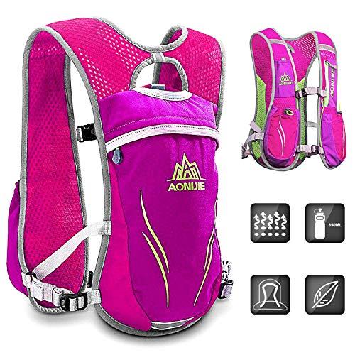 HINATAA Mochila de hidratación, 5,5 l, chaleco de hidratación para correr, maratón para mujeres y hombres, mochila ligera para correr (rosa)