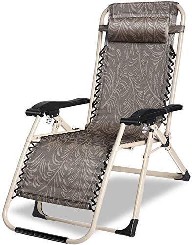 WJXBoos Sillas de jardín Reclinable Silla de Camping para Acampar Silla de Playa Plegable para Personas Pesadas Tumbona Plegable Soporte 200 kg (Color: Modelo Verde)