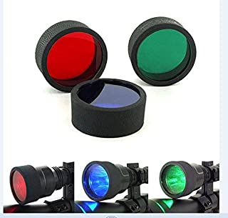 3 Red Blue Green Beam C8 45mm Tactical Flashlight Torch Filter For Rifle Hunting