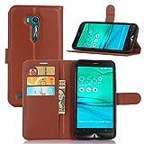 tinyue® Coque pour ASUS ZenFone Go ZB551KL (5.5 Pouce), Sac de Portefeuille en Cuir PU Flip Case,...