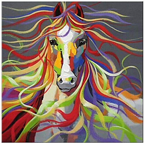 Jkykpp knutselen olieverfschilderij digitaal schilderij kinderschilderset huis ural deco canvas volwassenen mooi landschap cadeau bont en elegant paard