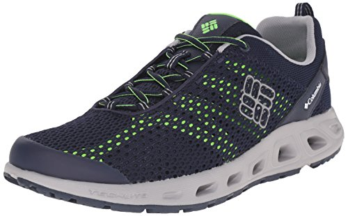 Columbia Men's Drainmaker III Water Shoe, Collegiate Navy/Green Mamba, 7.5 D US