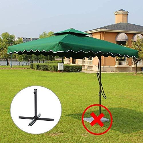 2.2m Parasols Jardin, Patio extérieur Shades, Sun-preuve et anti-pluie double-top Parapluies, utilisé for la plage Piscine Terrasse Parasols (Color : Green)
