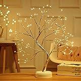 Luz de árbol bonsái de mesa, árbol de hadas, árbol de espíritu, luz artificial, lámpara de árbol para decoración de hogar, dormitorio, escritorio, luz nocturna con 108 LED,