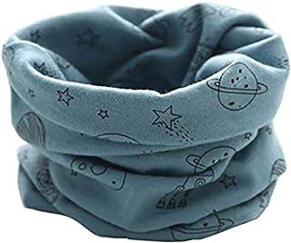 Harpily Autunno Inverno Ragazzi Ragazze Caldi Sciarpa Sciarpa Scaldacollo in Cotone per Bambini Neonati 2-10 Anni Moda Sciarpa Morbida e Calda Anello Collare 40 20cm