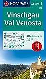 KOMPASS Wanderkarte Vinschgau, Val Venosta: 3 Wanderkarten 1:25000 im Set inklusive Karte zur offline Verwendung in der KOMPASS-App. Fahrradfahren. Skitouren. (KOMPASS-Wanderkarten, Band 670)