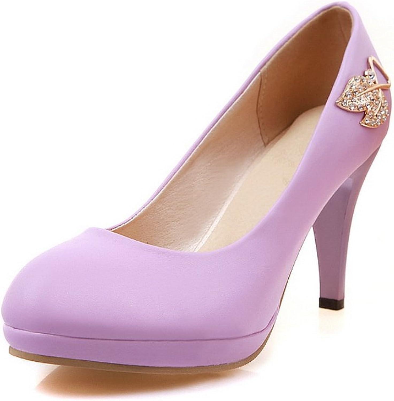 A&N Womens Platform Low-Cut Uppers No-Closure Urethane Pumps-shoes