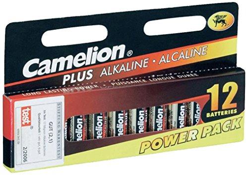 Camelion 11001206 Plus Alkaline Batterien LR6 / Mignon im ökologischen 12er Pack