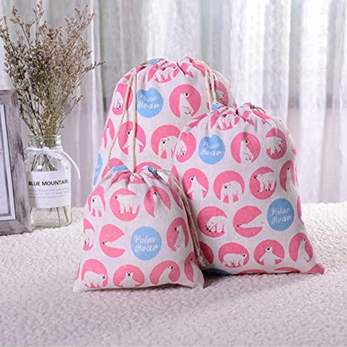 9 piezas de bolsa de lino con cordón bolsa de regalo de caramelo joyería caja de almacenamiento cosmética moneda clave caso 252508