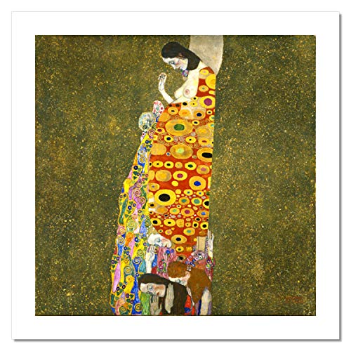 Niik Stampa Speranza II di Gustav Klimt 90 x 90 cm Falso d'autore su Tela