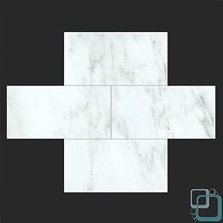 Arabescato Carrara 3x6 Honed Marble Subway Tile (3x6 Sample)