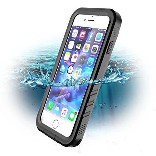 "Wigoo Funda Impermeable para iPhone 8/ iPhone7, Waterproof Case a Prueba de choques a Prueba de Polvo Anti-rasguños Full Body Protector Case de Pantalla Submarino Caso (iPhone 8(4,7""), Negro)"