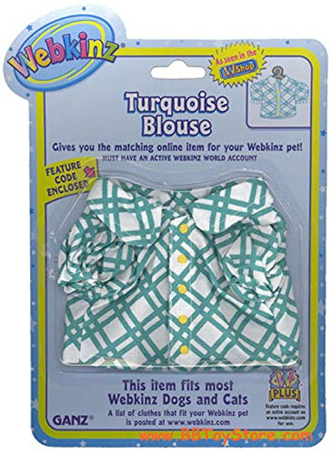 WE000303 Turquoise Blouse Webkinz New Code Sealed With Tag