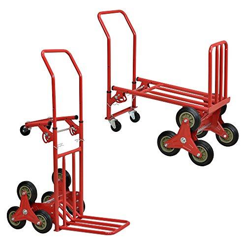 [in.Tec] Carro de Transporte multifunción y Carretilla 2 en 1 - Rojo