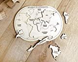 Montessori toys - Educational toys - Toddler wooden toy - Kids puzzle - World map puzzle - Educational puzzle - Fine motor skills