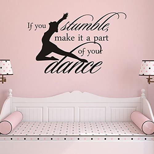 MoharWall Dance Studio for Kids Decals Inspirational Vinyl Wall Quotes Sticker If You Stumble product image