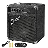 Donner Bass Amp 25W Bass Guitar Amplifier DBA-2 Electric Practice Bass Combo AMP with Cable