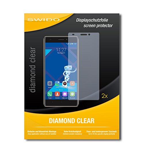2 x SWIDO® Bildschirmschutzfolie Haier Phone L53 Schutzfolie Folie