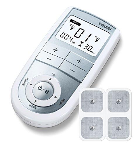 Beurer EM 41 - Electroestimulador Digital Masaje EMS TENS 2 Canales 4 Electrodos Autoadhesivos