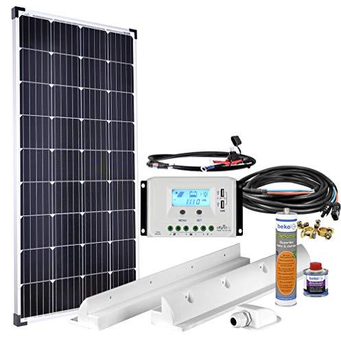 Offgridtec Premium-XL 150W 12V Wohnmobil Solaranlage 007500 mit 30A Laderegler und LCD Display