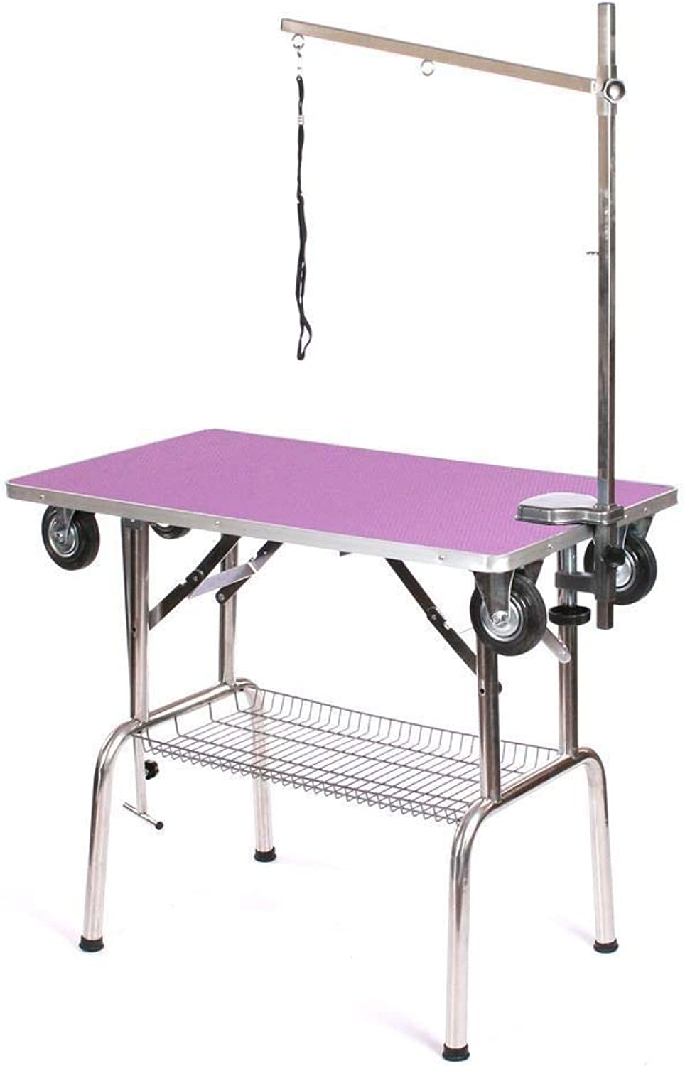 Generic arm noose show table eels arm noose dog pet grooming dog p with wheels portable mobile portable et groomin arm noose