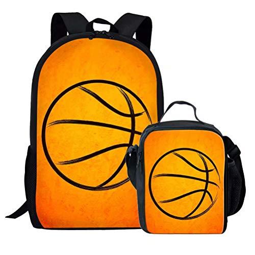 Chaqlin - Mochila escolar para niños, Poliéster, Balón de baloncesto (1 unidad), Talla única