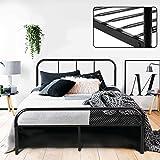 Coavas <span class='highlight'>Double</span> <span class='highlight'>Bed</span> Frame 4ft 6 Solid <span class='highlight'>Bed</span> Frame with 2 Headboard Metal <span class='highlight'>Bed</span> Frame Black For Adults, Teenagers, Only <span class='highlight'>Bed</span> Frame 140x198 cm, New Version