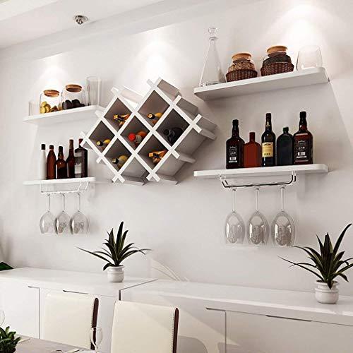DGDF Soporte para botella de vino colgante titular de botella de vino tinto titular de la botella de vino invertido soporte de pared restaurante creativo titular de
