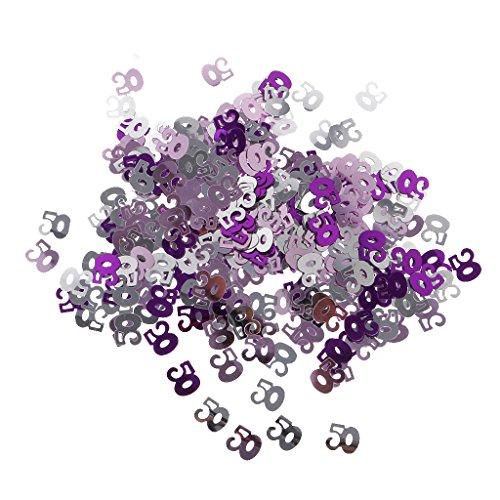 P Prettyia Table Confetti 50 Ans Anniversaire de Mariage Anniversaire Ballon Foil Scatters