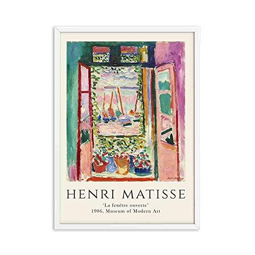 Henry Matisse carteles e impresiones retro pinturas de arte de pared de paisaje abstracto para el hogar pinturas decorativas en lienzo sin marco D 50x75cm